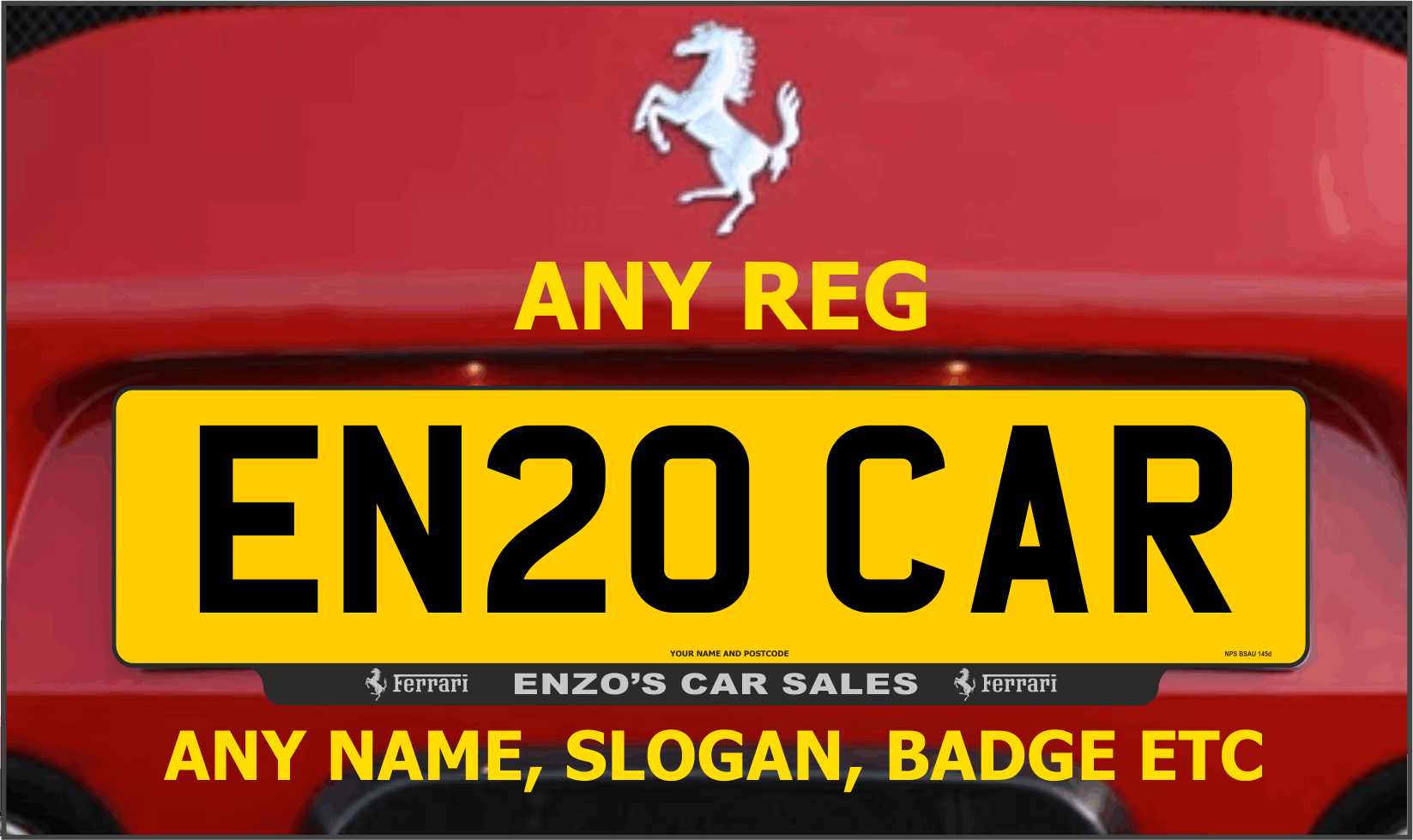 Number Plate Suppliers >> Trade